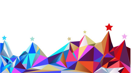 Color montains. Vector illustration