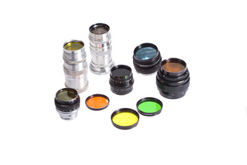 Set of photofilters and lenses