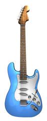 E Gitarre blau