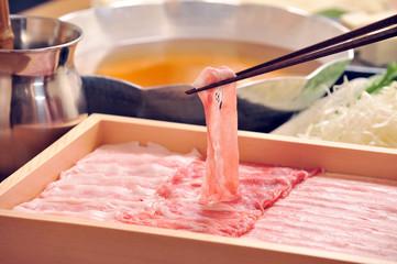 しゃぶしゃぶ肉とお箸2