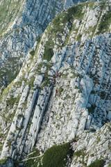 Climbing in Piatra Craiului mountains, Romania