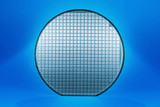 Blue silicon wafer poster
