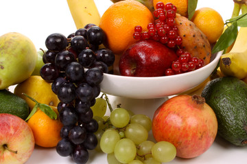 Fruits on a fruit-dish