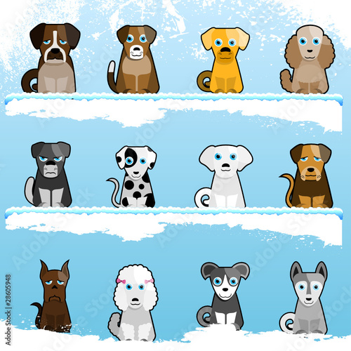 cartoon cute dogs