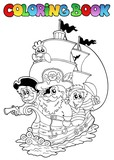 Coloring book with pirates 2 - 28606162