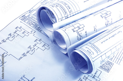 Engineering electricity blueprint rolls - 28606726