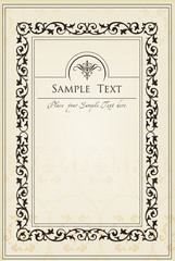 Vertical vintage background for Book cover vector