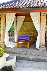 Pavilion for Spa procedures in tropical garden..