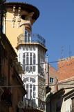 Modernist building,  Teruel town, Aragon, Spain poster