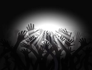 Hände zum Licht