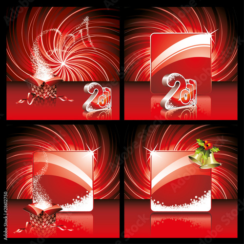 Merry Christmas and Happy New Year vector beckground