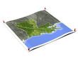 Louisiana on unfolded map sheet.