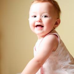 Little girl happy face