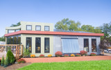 Modern Solar House, Solar Panels, Solar Water Heater