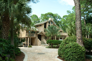 Single Family Home, Driveway, Palms, Hilton Head Island, South C