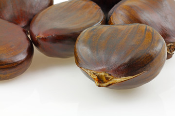 close up chestnuts