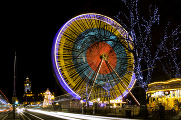 Giant Wheel Edinburgh By Night