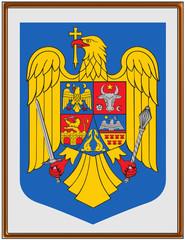 Romania national emblem coat frame