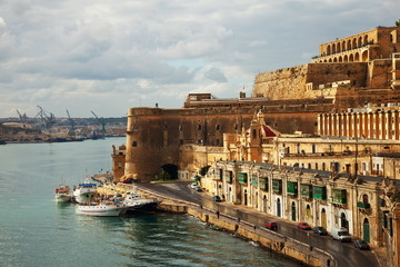 Valletta and Grand Harbour. Malta