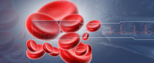 Streaming blood cells