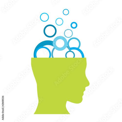 Logo brainwashing. Psychoanalyst. Plagiarism # Vector