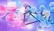 Digital illustration of molecules
