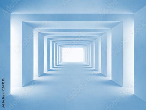 niebieski-tunel-3d-z-powiekszeniem-optycznym