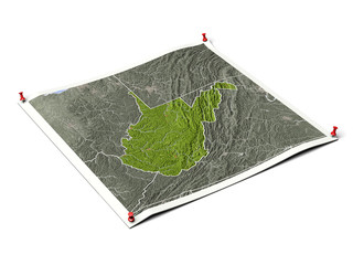 West Virginia on unfolded map sheet.