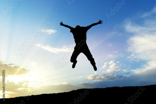 Man jump to sky