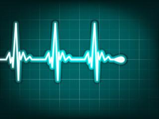 Electrocardiogram track of human heart. EPS 8