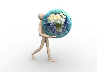 Man carrying Earth