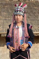 Portrait Sila ethnic group in Laos