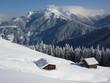 Ferienhütten im Schnee