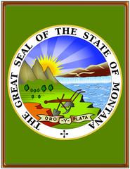 USA state montana seal emblem coat