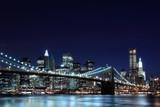 Brooklyn Bridge and Manhattan Skyline  At Night, New York City - 28624574