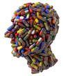 Человеческая голова из медицинских таблеток, 3D