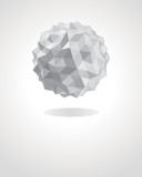 Fototapety Abstract 3d origami paper sphere vector background