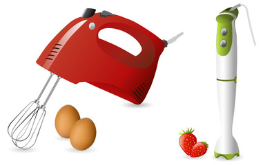 Electric hand mixer and blender