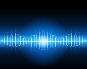 Abstract blue waveform vector background