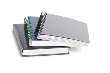 Three notebooks.