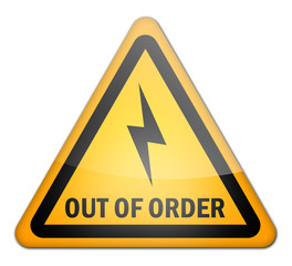 "Advisory Sign ""Out Of Order"""