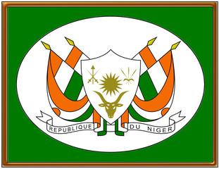 Niger national emblem coat frame