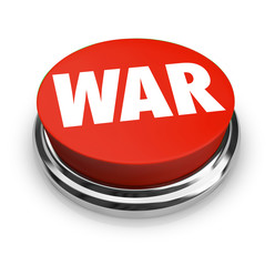 War - Word on Round Red Button