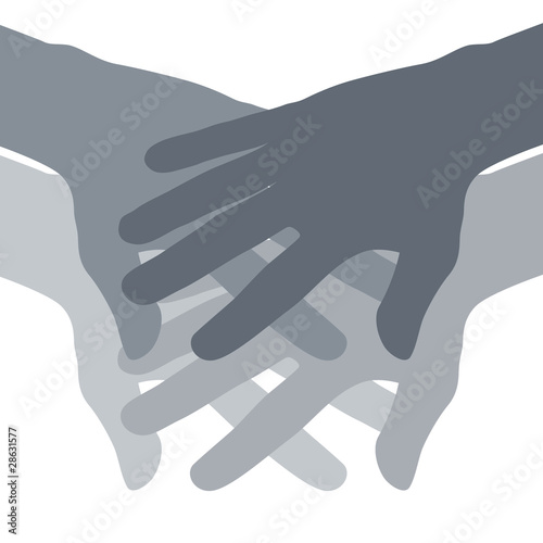 Teamwork Hands Abstract