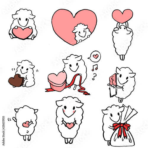 Valentine-sheep
