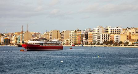 Sliema from sea side. Malta
