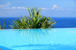 piscine à débordement sur océan Indien
