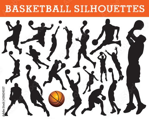 Силуэт баскетболиста