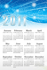 abstract blue calendar