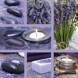 Fototapety Collage with lavender of wellness motives